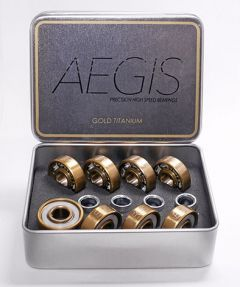 Titanium Gold Bearings with White Retainer